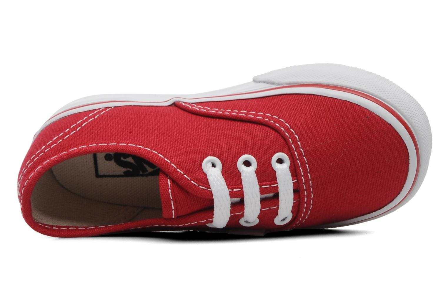 Baskets Vans Authentic BB Rouge vue gauche