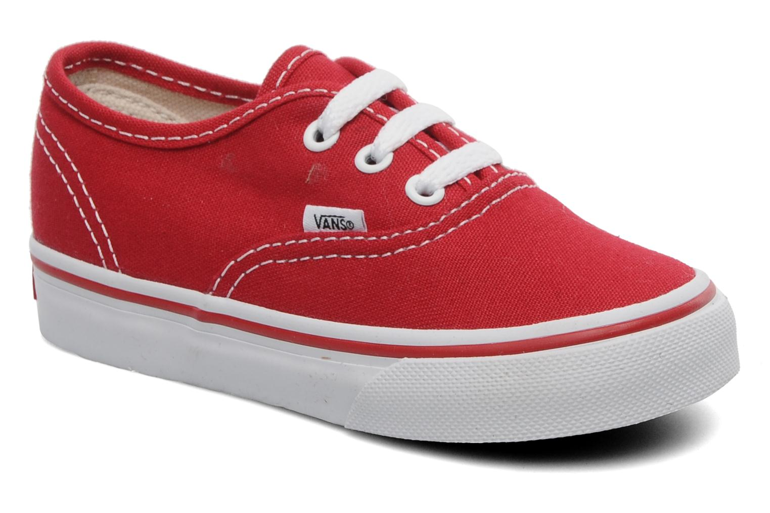 Baskets Vans Authentic BB Rouge vue détail/paire