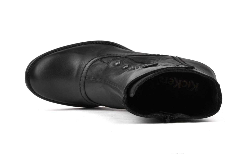 Boots en enkellaarsjes Kickers Utah Zwart links
