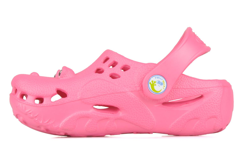 Sandales et nu-pieds Polliwalks Bilbouille La Grenouille Rose vue face