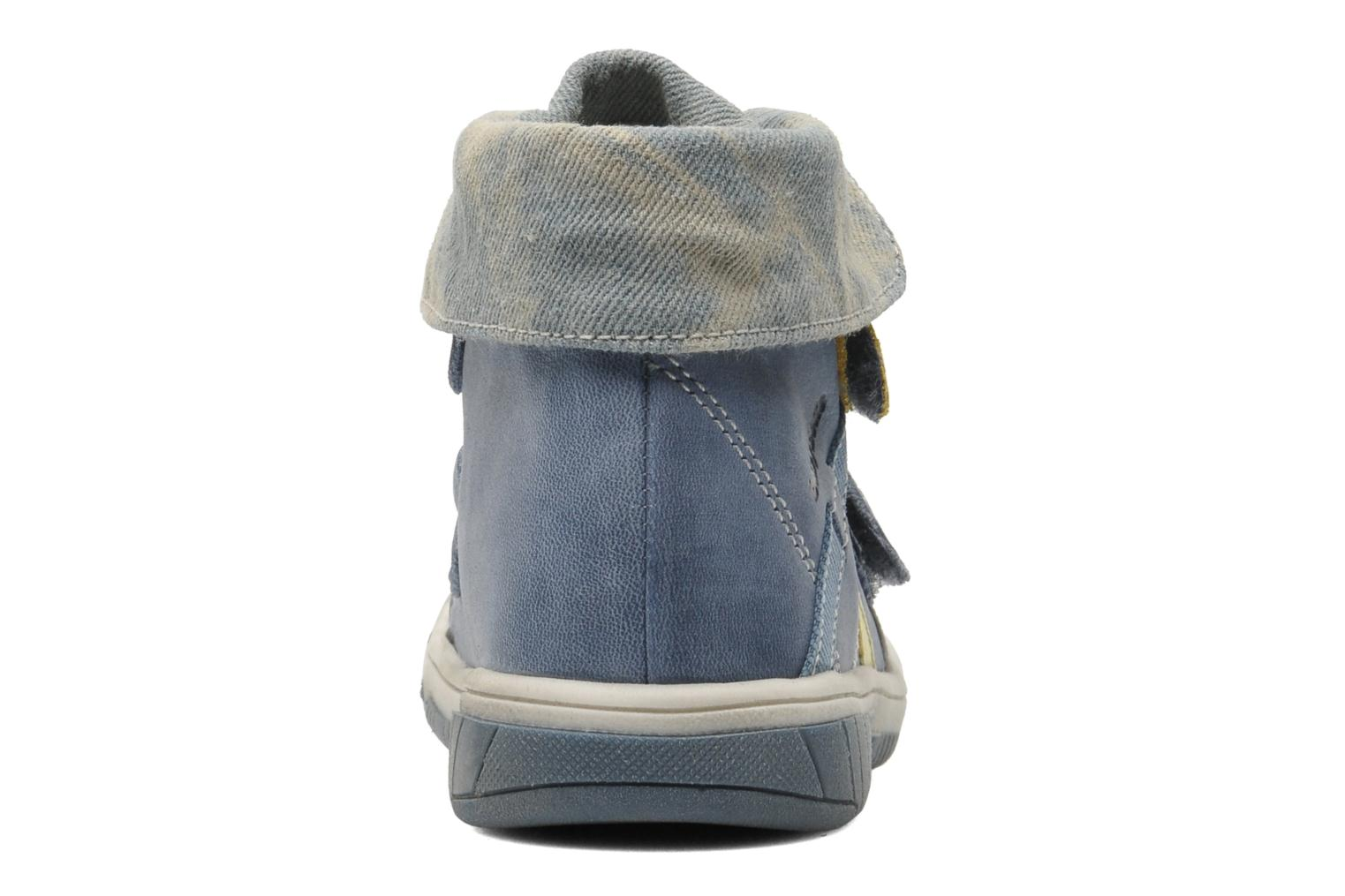 Velcro shoes Babybotte Acteur Blue view from the right