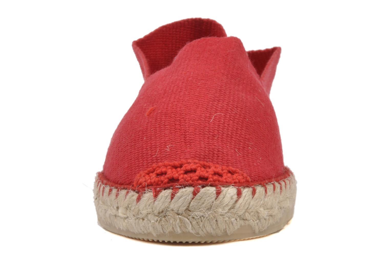 Espadrilles La maison de l'espadrille Sabline E Rouge vue portées chaussures