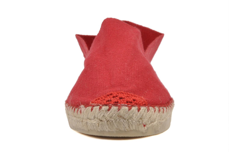 Espadrilles La maison de l'espadrille Sabline F Rouge vue portées chaussures