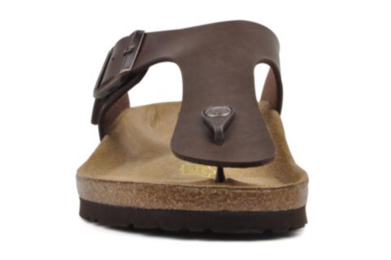 Zehensandalen Birkenstock Ramses M braun schuhe getragen