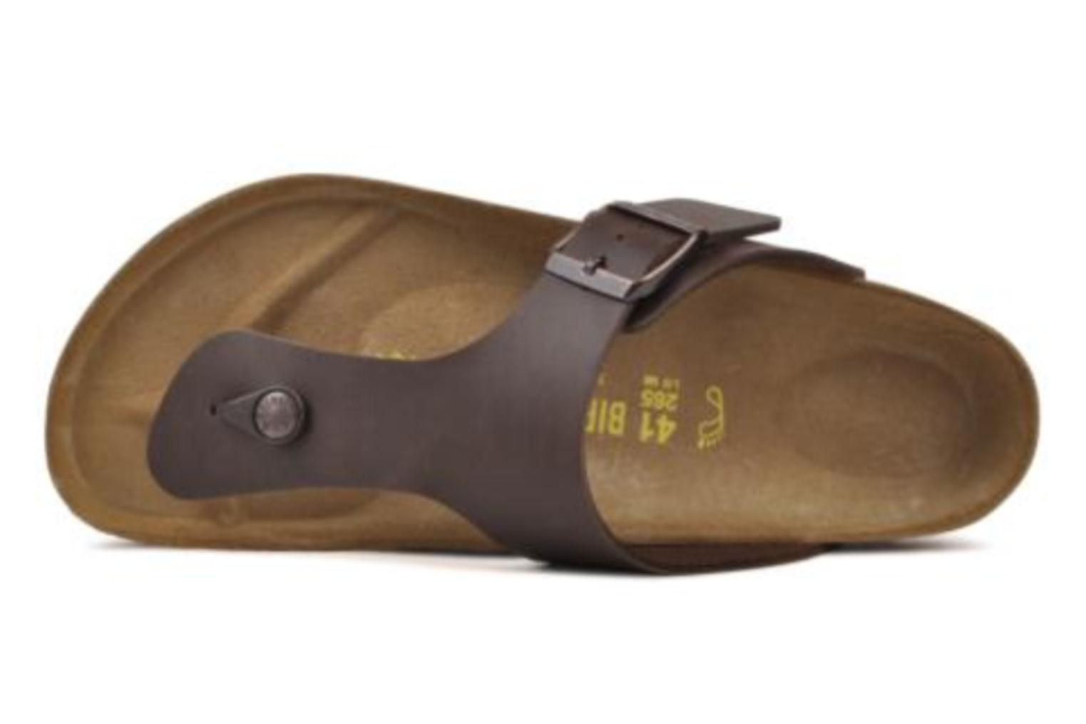 Flip flops Birkenstock Ramses M Brown view from the left