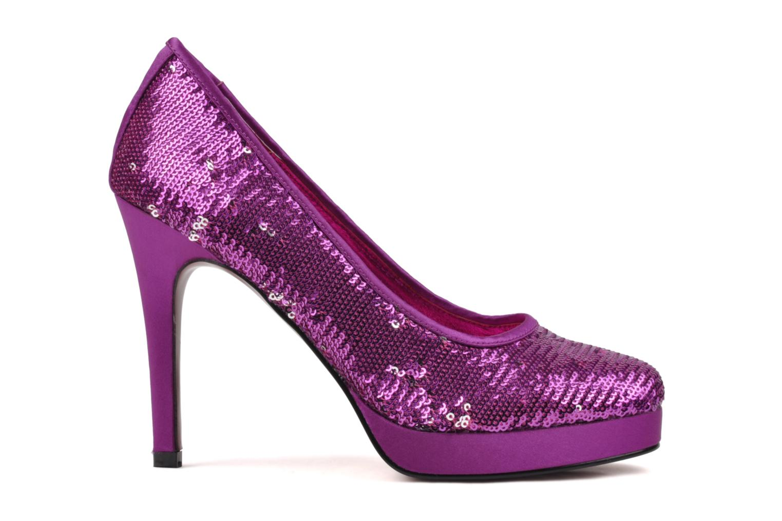 High heels Buffalo Paillette Pink back view