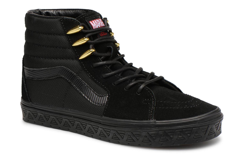 Baskets Vans SK8 Hi W Noir vue détail/paire