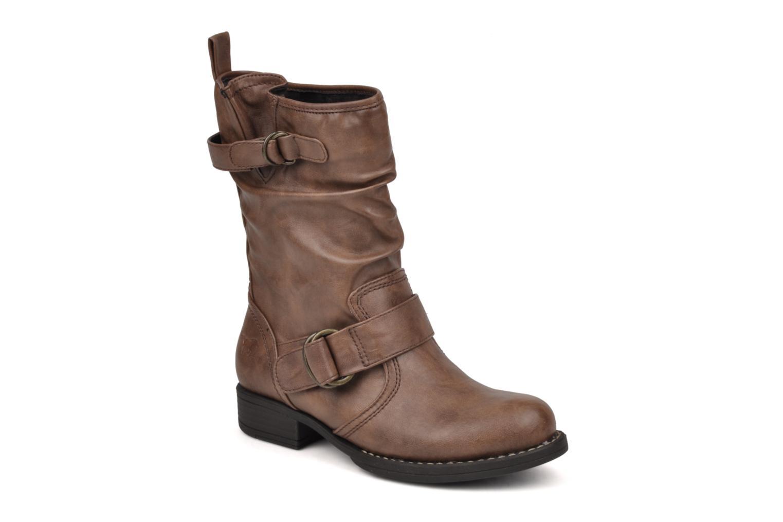 Boots en enkellaarsjes Mustang shoes Brea Bruin detail