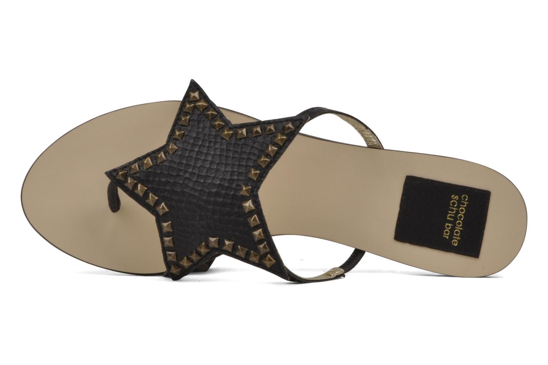 Sandales et nu-pieds Chocolate Schubar Star Noir vue derrière