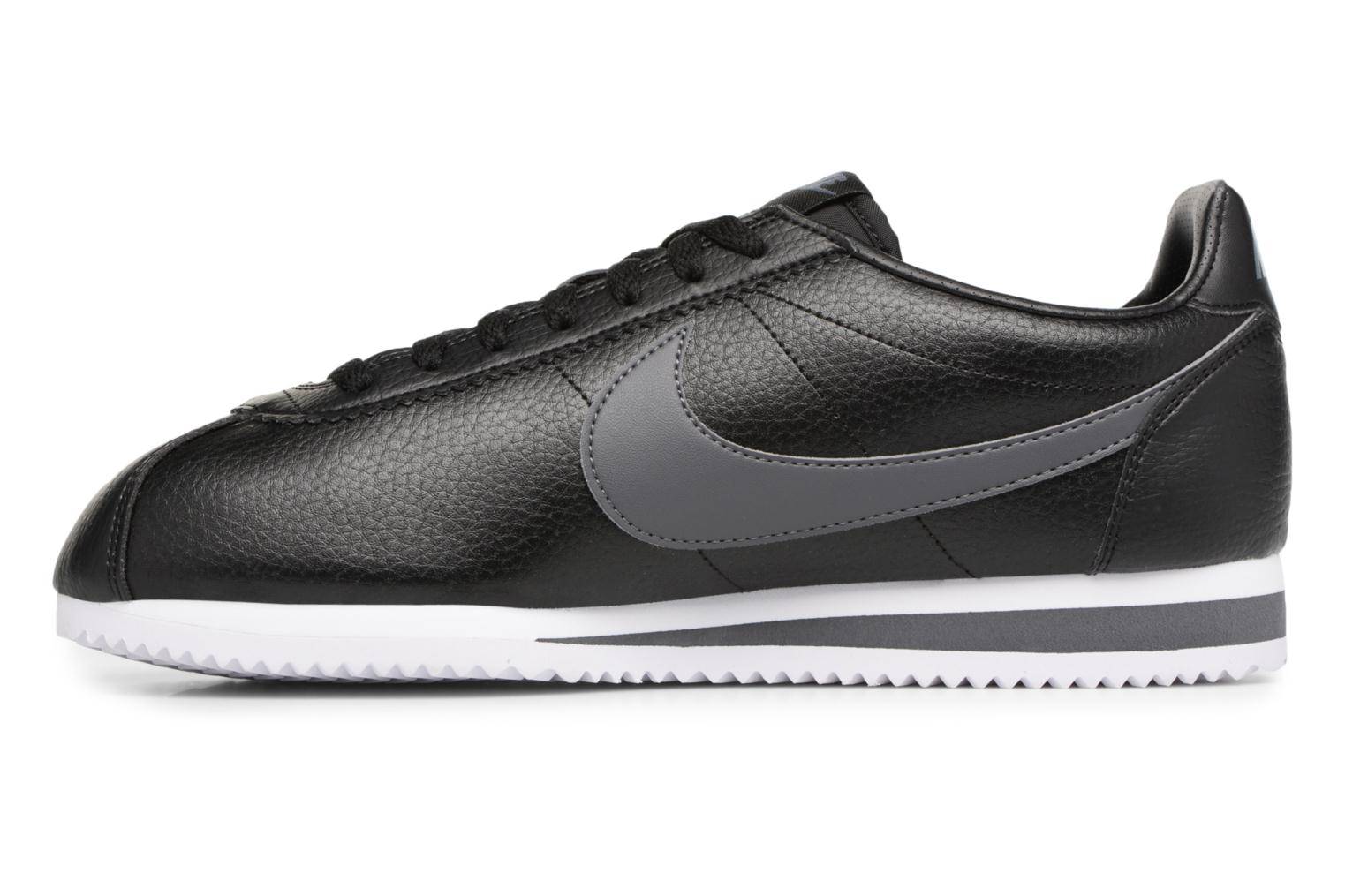 Sneakers Nike Classic Cortez Leather Nero immagine frontale