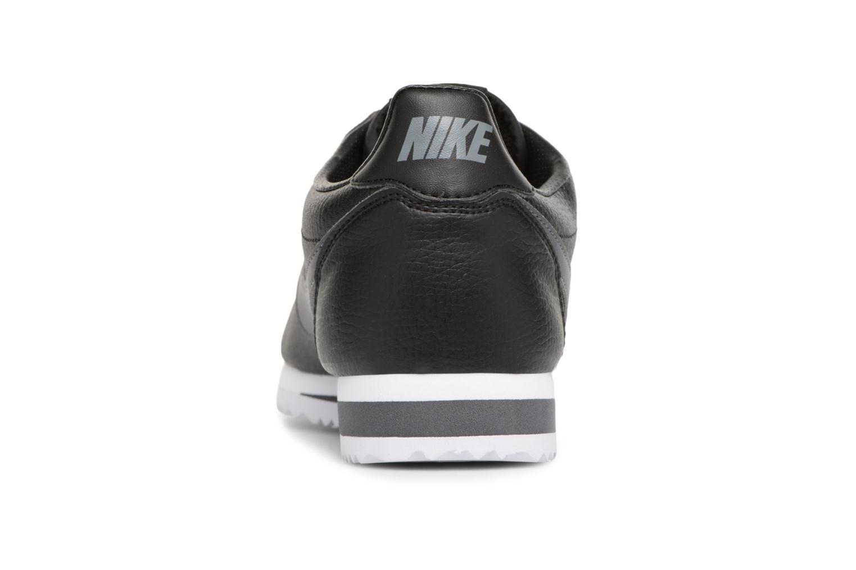 Classic Cortez Leather Black/Dark Grey-White