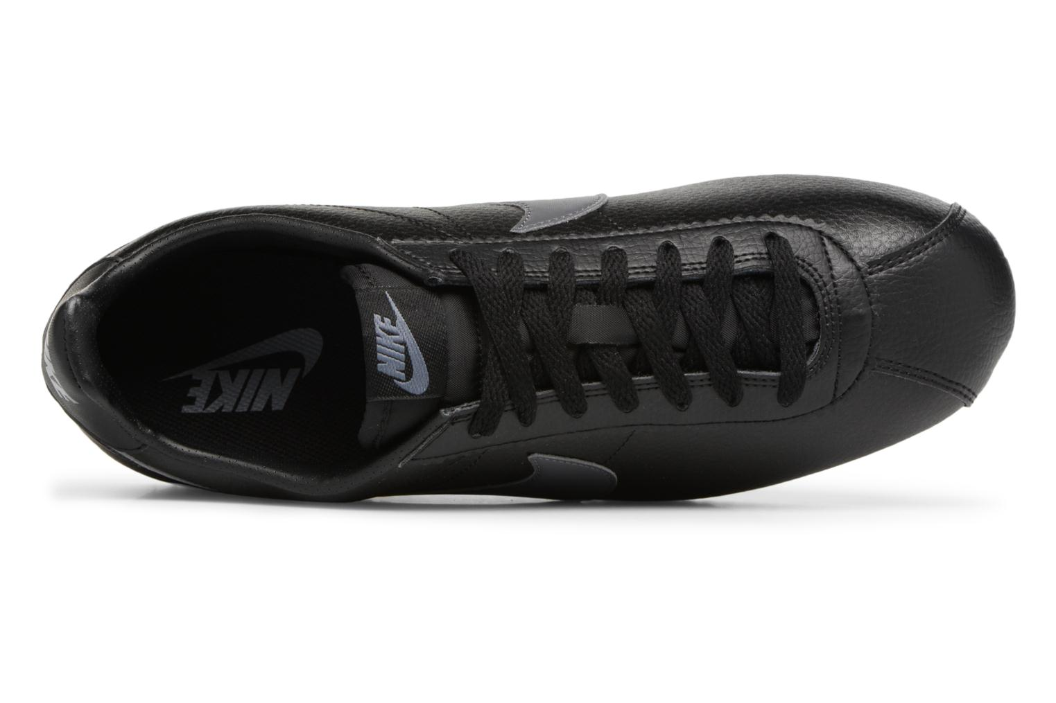 Classic Cortez Leather Black/Dark Grey-White