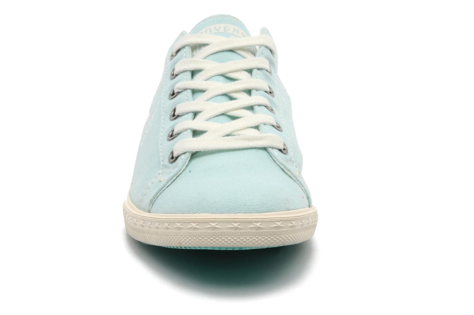 One Star Low Profile Canvas Ox W Turquoise Ecru