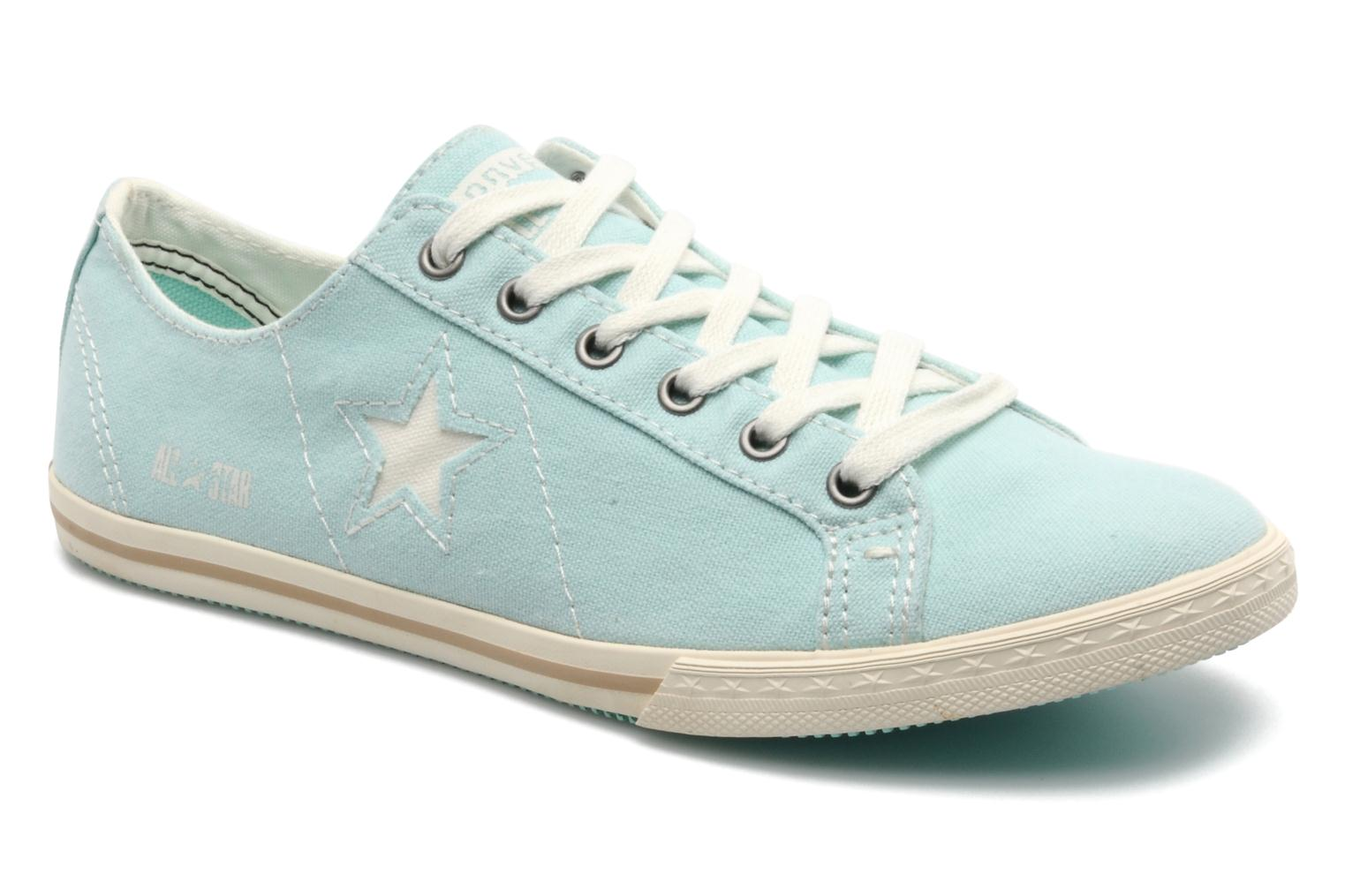 Trainers Converse One Star Low Profile Canvas Ox W Green detailed view/ Pair view