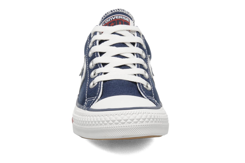 Sneaker Converse Star Player Ev Canvas Ox W blau schuhe getragen