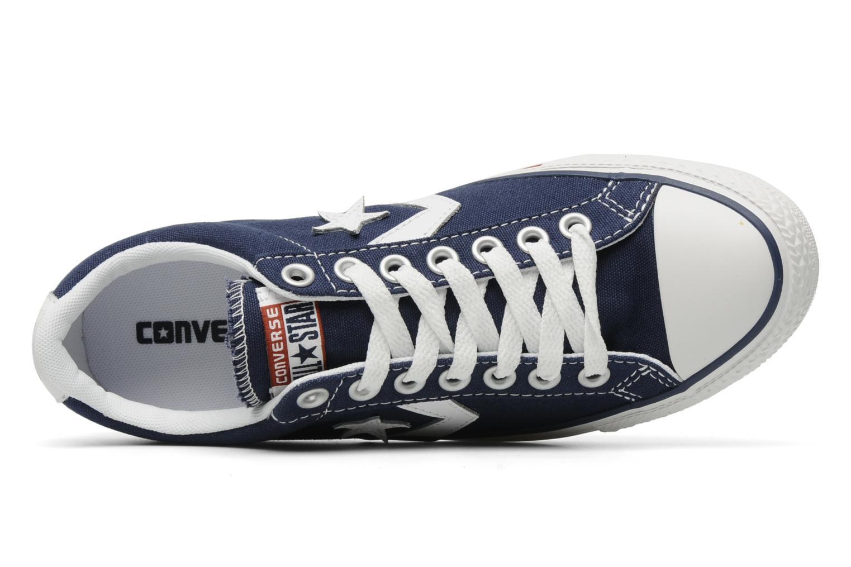 Deportivas Converse Star Player Ev Canvas Ox M Azul vista lateral izquierda