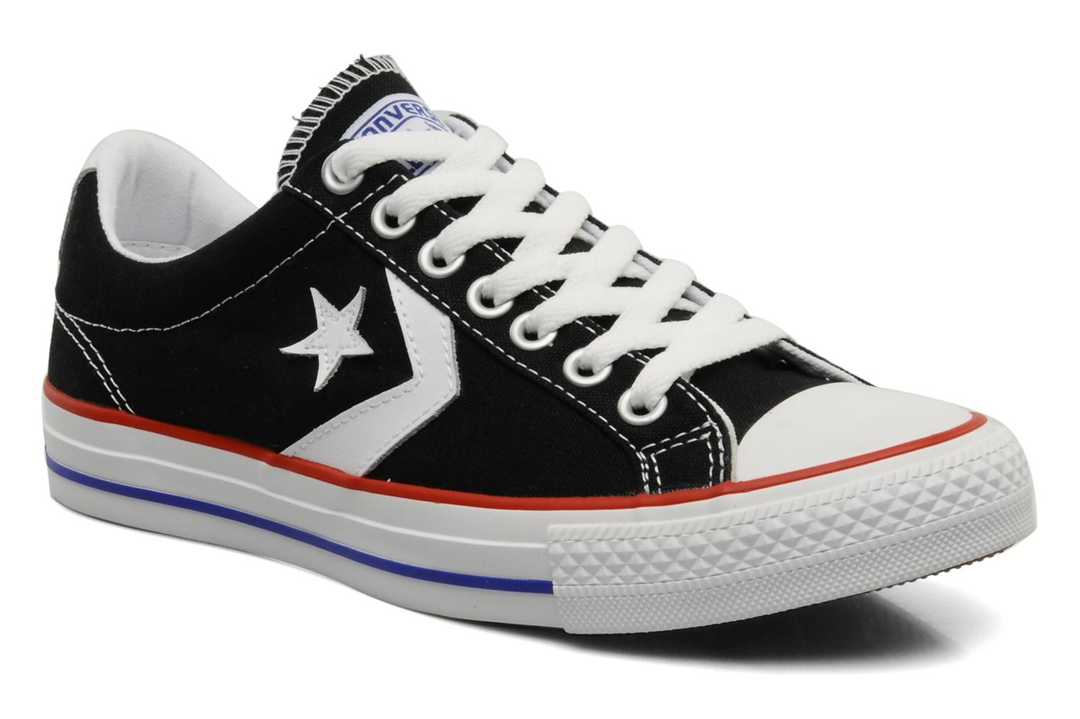 new concept 481c7 ab7bb Baskets Converse Star Player Ev Canvas Ox M Noir vue détail paire