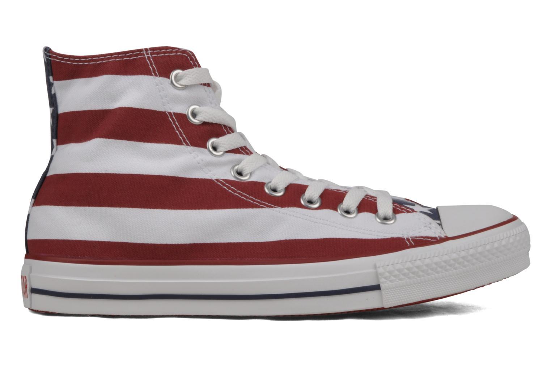 Sneaker Converse Chuck Taylor All Star Stars & Bars Hi M weiß ansicht von hinten