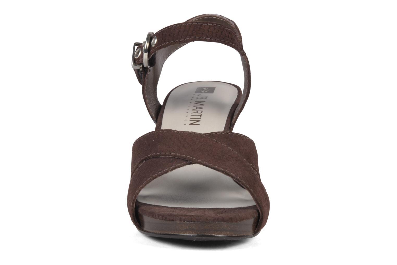 Sandales et nu-pieds JB MARTIN Hasard Marron vue portées chaussures
