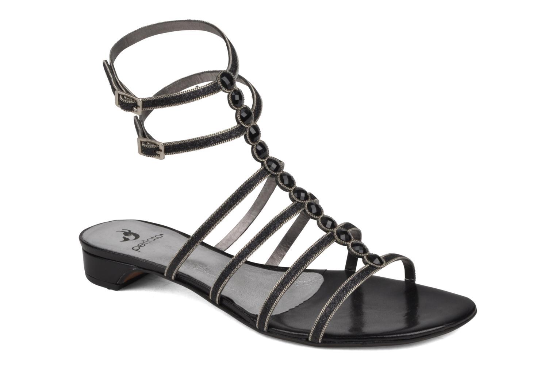 Sandales et nu-pieds Perlato Jadia Noir vue détail/paire