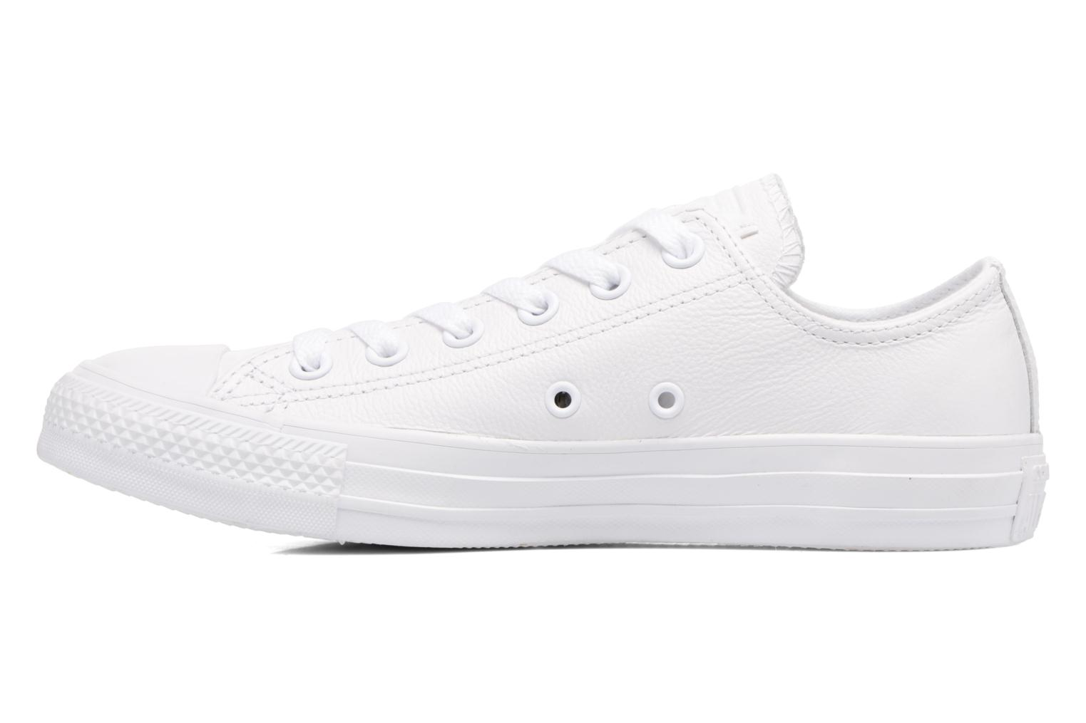 Deportivas Converse Chuck Taylor All Star Monochrome Leather Ox W Blanco vista de frente