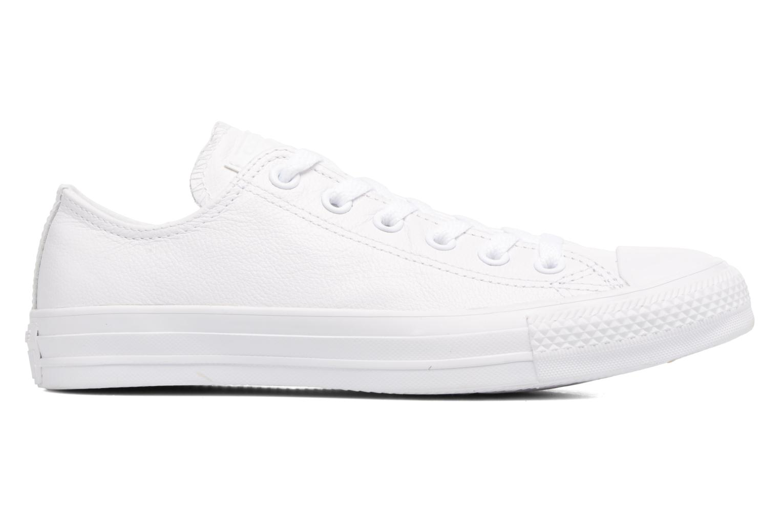Baskets Converse Chuck Taylor All Star Monochrome Leather Ox W Blanc vue derrière