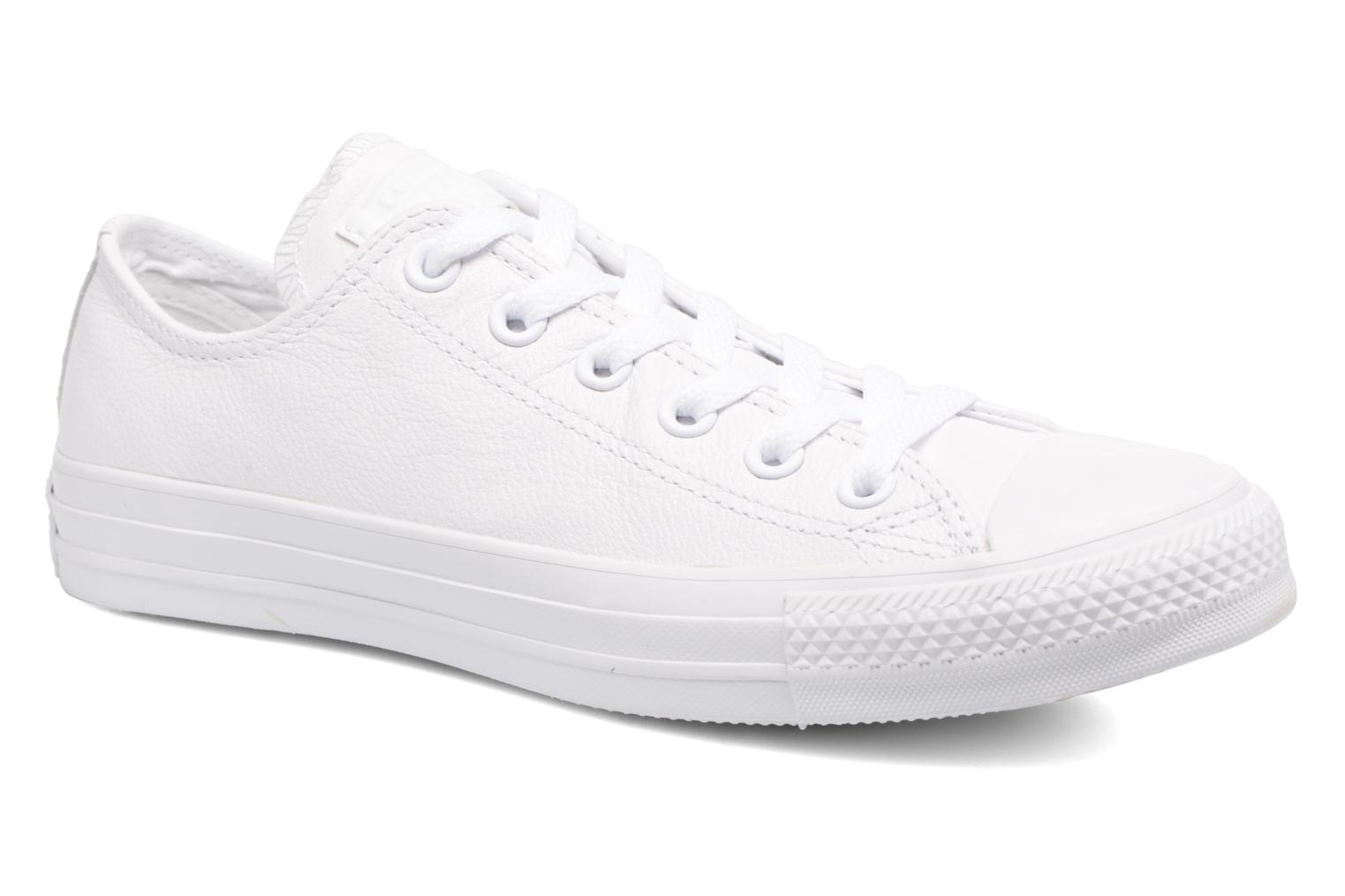 Baskets Converse Chuck Taylor All Star Monochrome Leather Ox W Blanc vue détail/paire