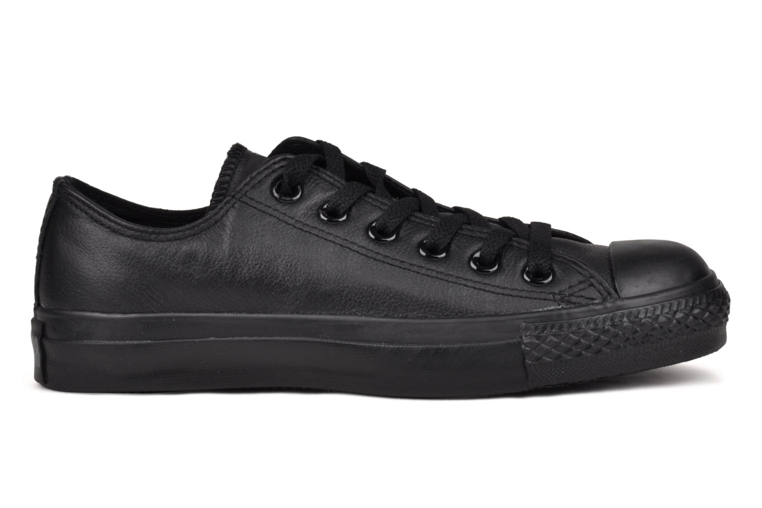 Trainers Converse Chuck Taylor All Star Monochrome Leather Ox W Black back view