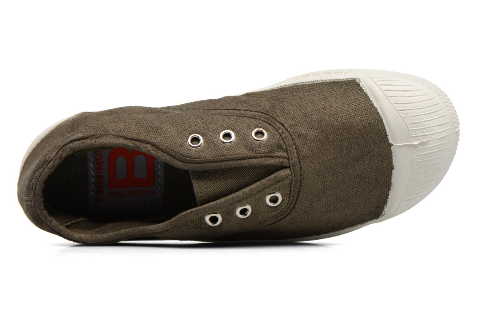 Trainers Bensimon Tennis Elly E Green view from the left
