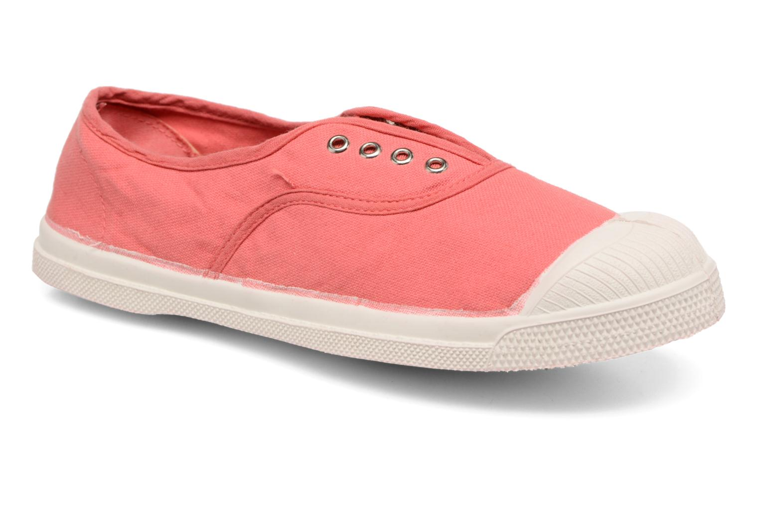 Baskets Bensimon Tennis Elly E Rouge vue détail/paire