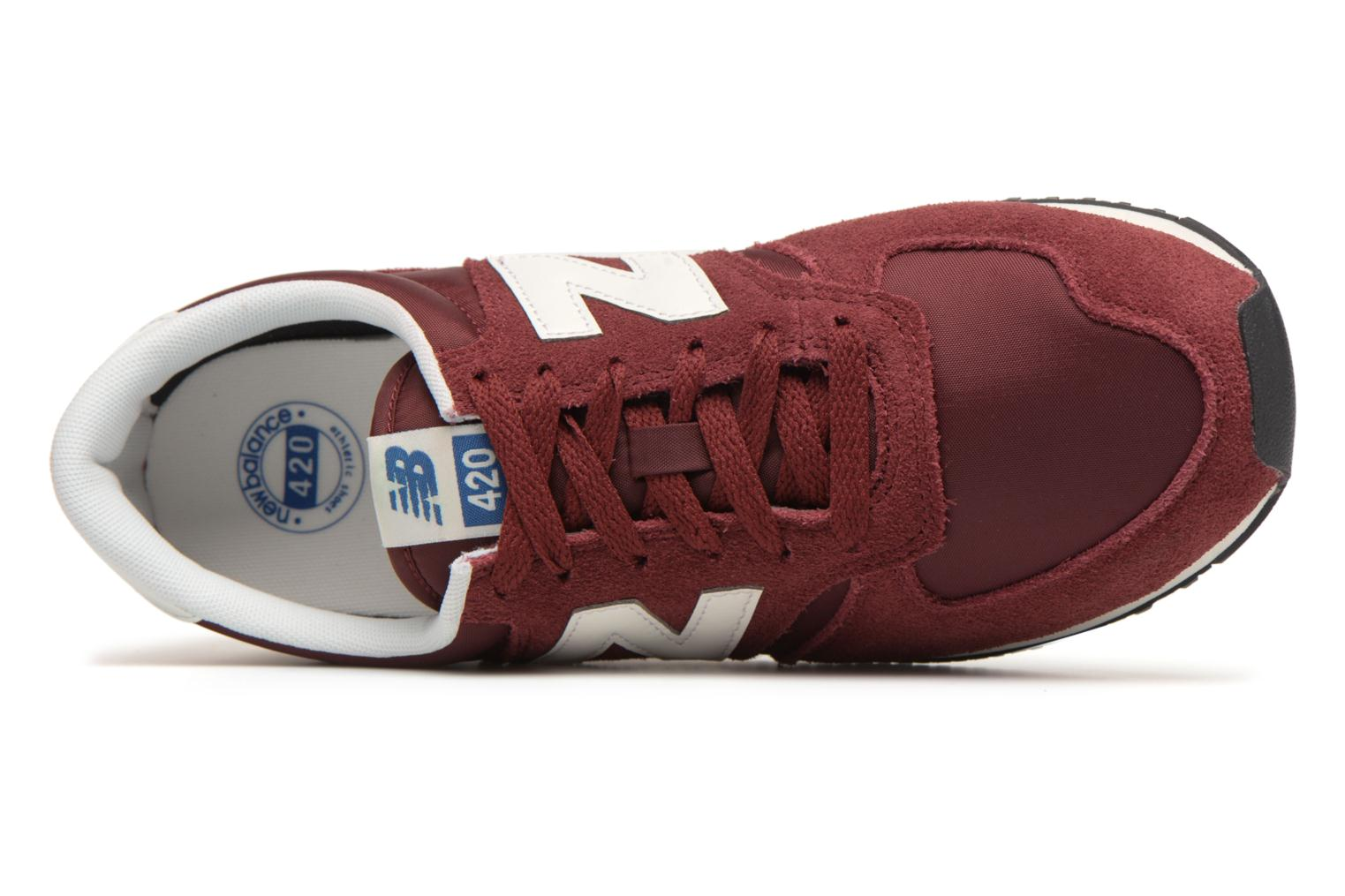 Trainers New Balance U420 Red view from the left