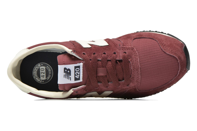 Sneakers New Balance U420 W Bordeaux se fra venstre