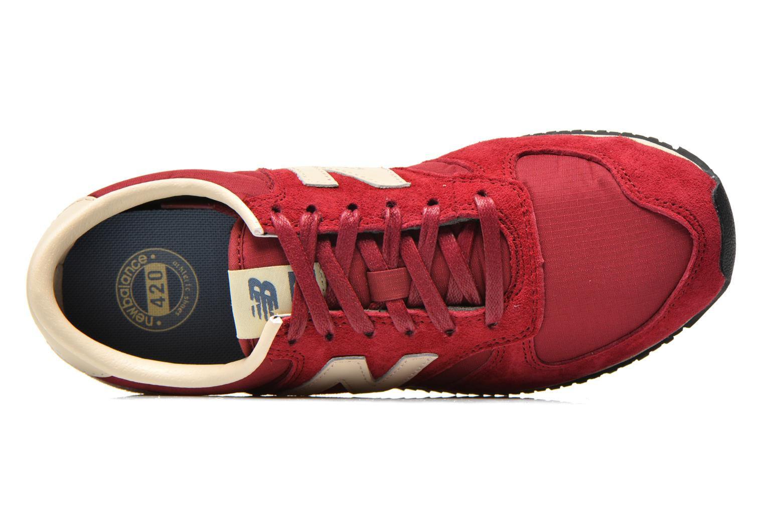 Trainers New Balance U420 W Burgundy view from the left