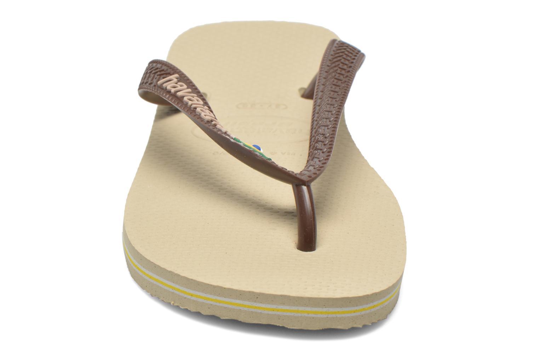 Flip flops Havaianas Brasil Logo F Brown model view