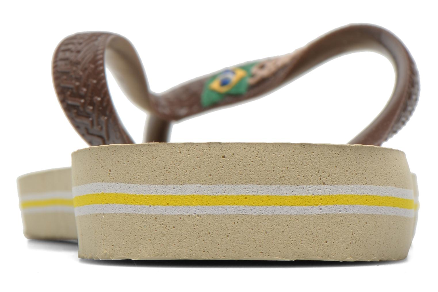 Flip flops Havaianas Brasil Logo F Brown view from the right