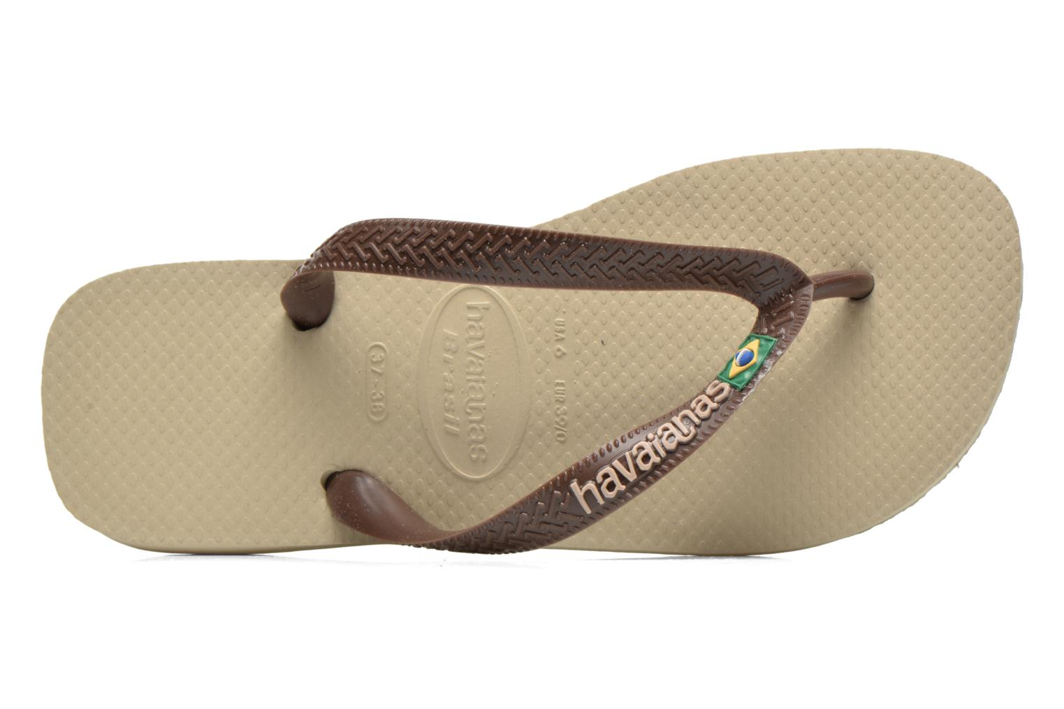 Flip flops Havaianas Brasil Logo F Brown view from the left