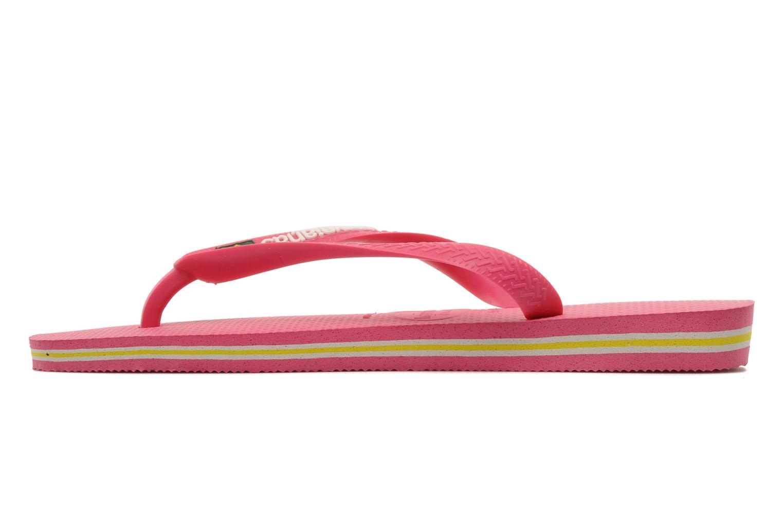 Zehensandalen Havaianas Brasil Logo F rosa ansicht von vorne