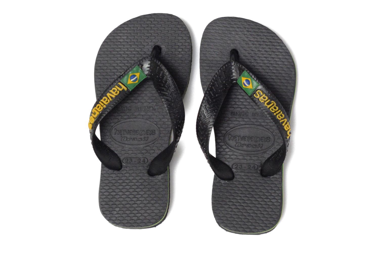 Flip flops Havaianas Brasil Logo E Black 3/4 view