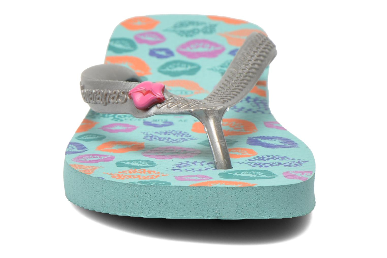 Tongs Havaianas Kids Fun Bleu vue portées chaussures