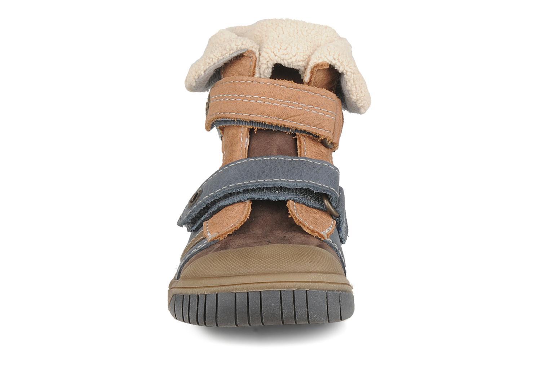 Chaussures à scratch Babybotte Acteur G Bleu vue portées chaussures