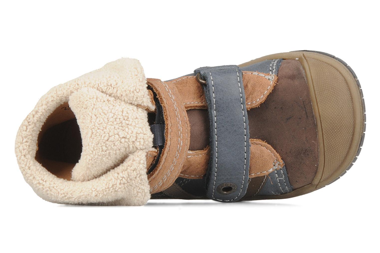 Chaussures à scratch Babybotte Acteur G Bleu vue gauche