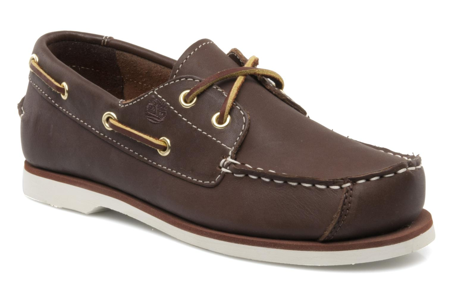 Boat Shoe Peaks Island E Brown Smooth