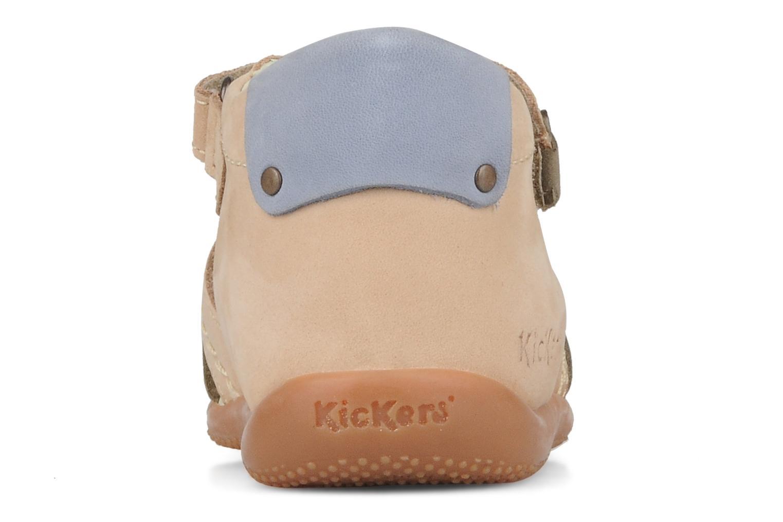 Sandales et nu-pieds Kickers Banzai Beige vue droite