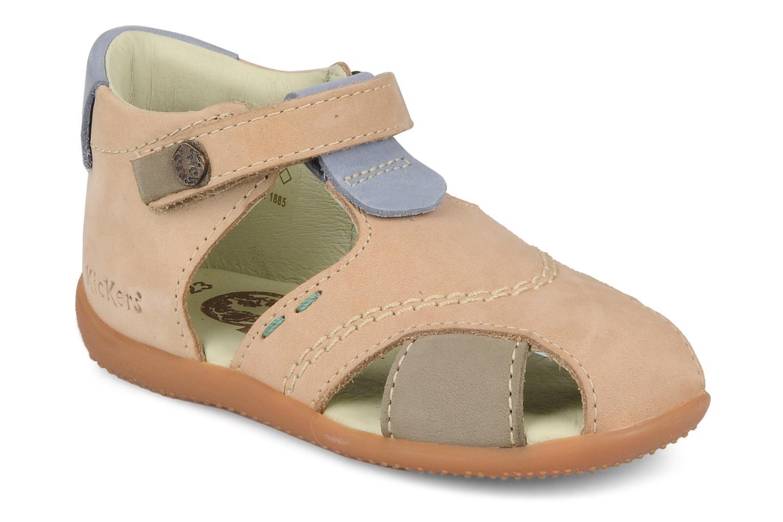 Sandales et nu-pieds Kickers Banzai Beige vue détail/paire