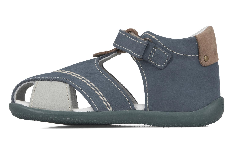 Sandales et nu-pieds Kickers Banzai Bleu vue face