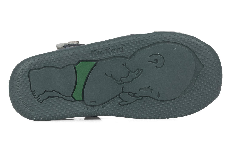Sandales et nu-pieds Kickers Banzai Bleu vue haut