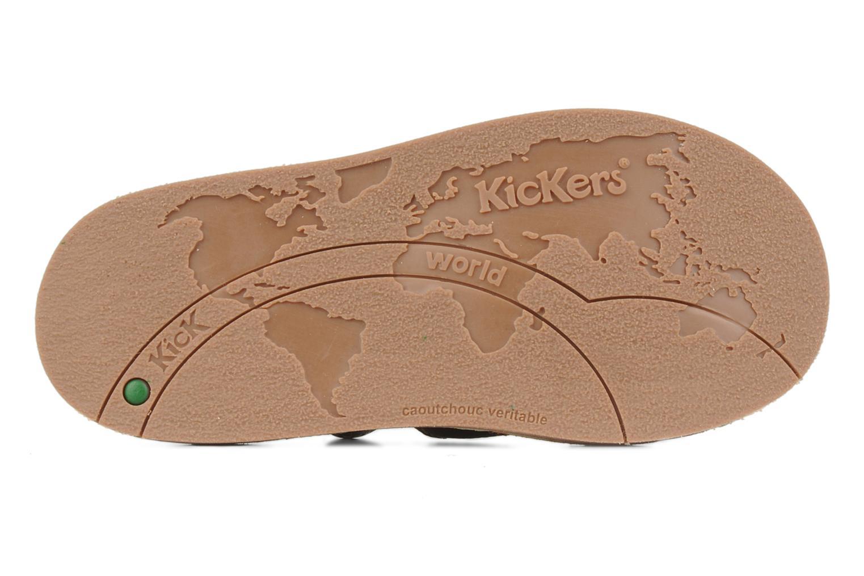 Sandales et nu-pieds Kickers Woops Marron vue haut