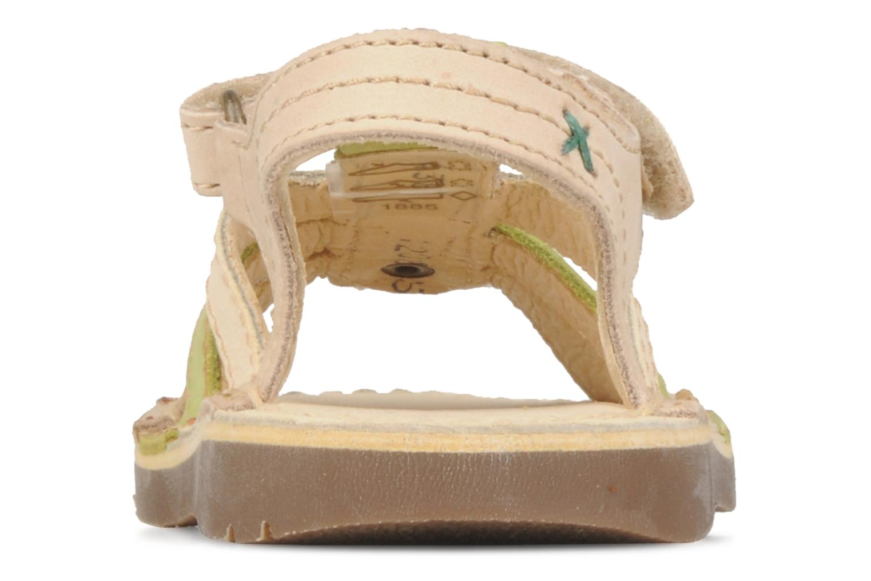 Sandales et nu-pieds Kickers Woops Beige vue droite