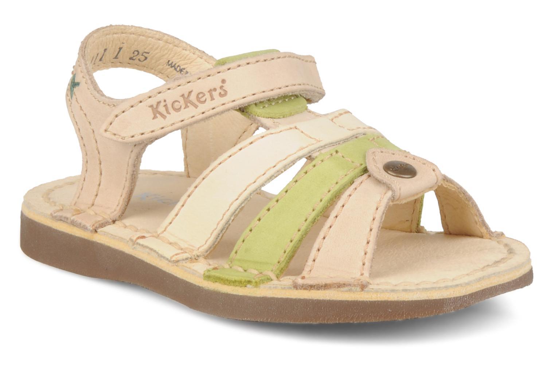 Sandales et nu-pieds Kickers Woops Beige vue détail/paire