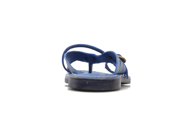 Sandalen Kickers Dilight blau ansicht von rechts